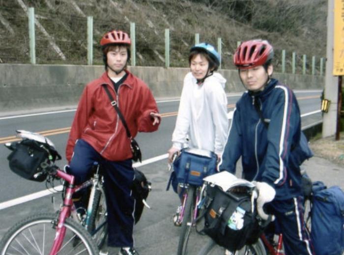 自転車で日本一周。